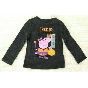 📦Peppa pig halloween graphic tee trick or treat
